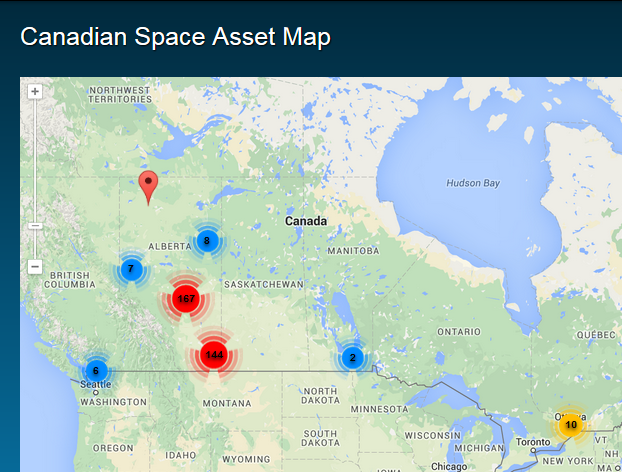 Canadian Space Asset Map